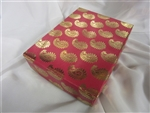 1LB Mix Sweets Red and Gold Paisely Gift Box
