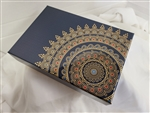 1LB Blue and  White  Cloth  Gift Box