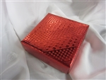 1/2lb Red Foil Cloth  Gift Box