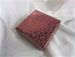 1/2lb Maroon Foil Cloth  Gift Box