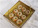 Gold Gift Box 9 pc Kaju Ladoo