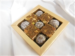 Gold Gift Box 9 pc Sugar Free Sweets